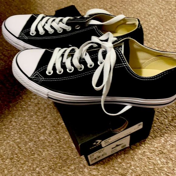 Converse unisex black shoes all star ox